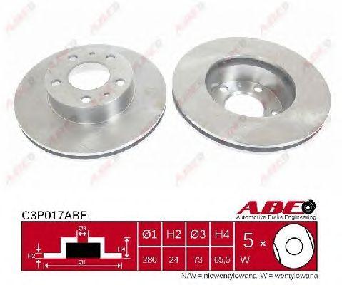 Тормозной диск ABE C3P017ABE