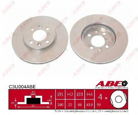 Тормозной диск ABE C3U004ABE