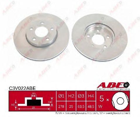 Тормозной диск ABE C3V022ABE