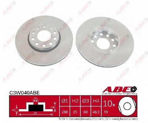 Тормозной диск ABE C3W040ABE