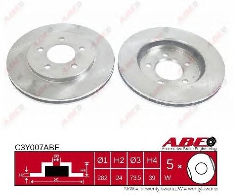 Тормозной диск ABE C3Y007ABE