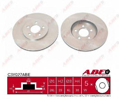 Тормозной диск ABE C3Y027ABE