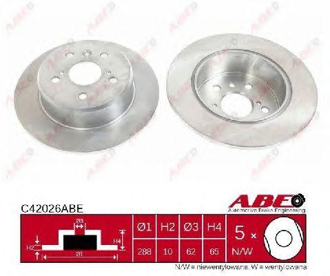 Тормозной диск ABE C42026ABE