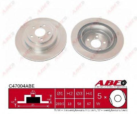 Тормозной диск ABE C47004ABE