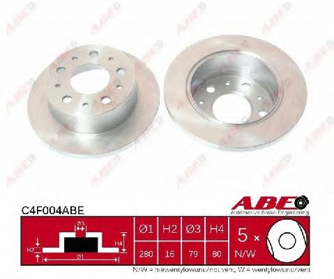 Тормозной диск ABE C4F004ABE