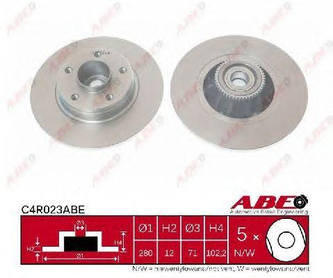 Тормозной диск ABE C4R023ABE