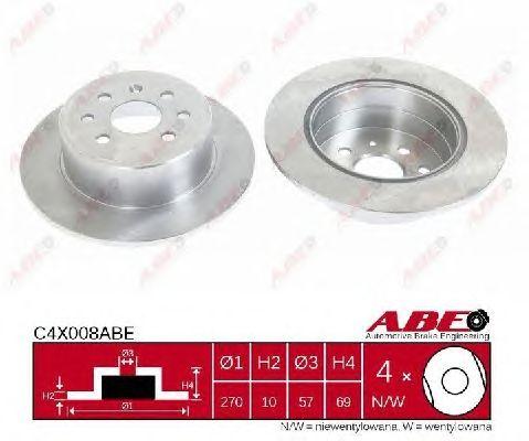 Тормозной диск ABE C4X008ABE