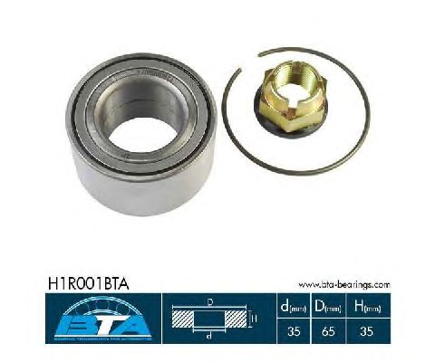 Ступичный подшипник BTA H1R001BTA