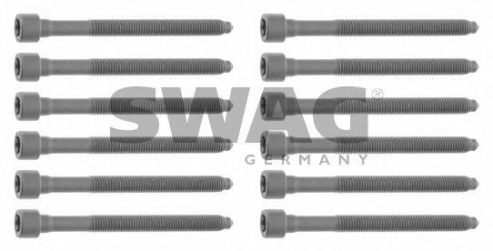 Комплект болтов головки блока цилиндров (ГБЦ) SWAG 30 92 6433