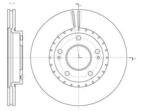 Тормозной диск REMSA 61434.10