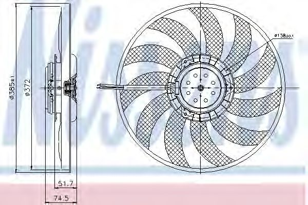 Вентилятор охлаждения NISSENS 85638