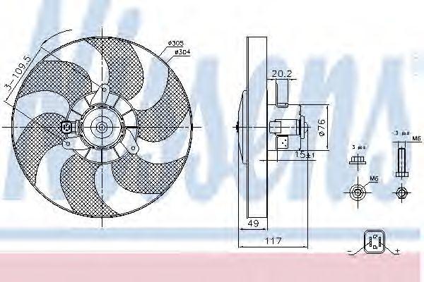 Вентилятор охлаждения NISSENS 85658