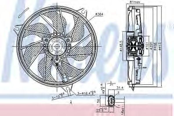 Вентилятор охлаждения NISSENS 85662