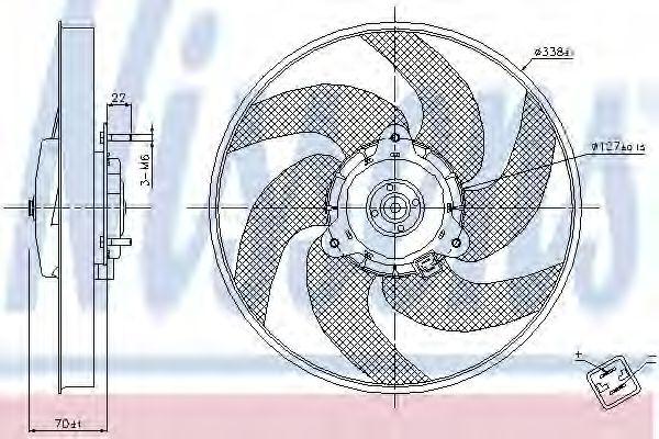 Вентилятор охлаждения NISSENS 85667