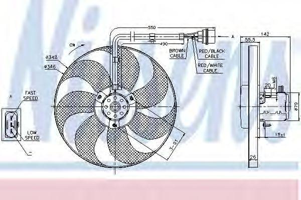 Вентилятор охлаждения NISSENS 85683