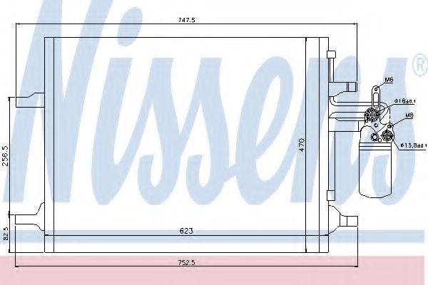 Радиатор кондиционера NISSENS 940159