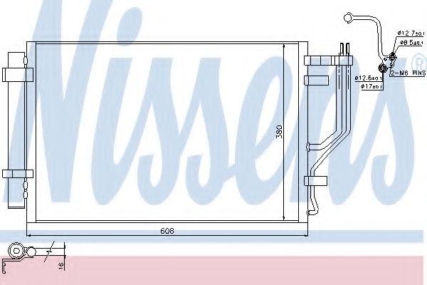 Радиатор кондиционера NISSENS 940296