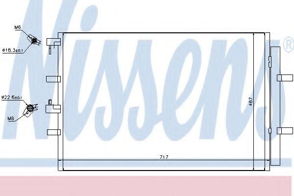 Радиатор кондиционера NISSENS 940330