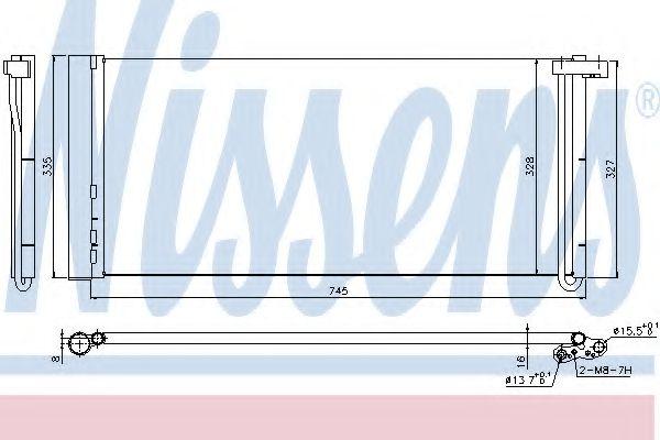 Радиатор кондиционера NISSENS 940358