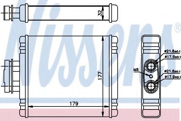 Радиатор отопителя NISSENS 73981