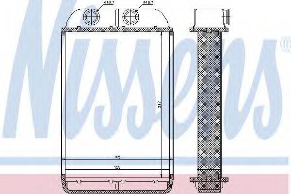 Радиатор отопителя NISSENS 70232