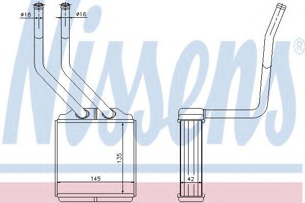 Радиатор отопителя NISSENS 71776