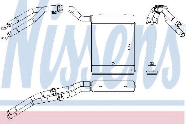 Радиатор отопителя NISSENS 71773