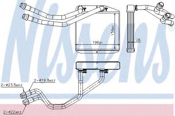 Радиатор отопителя NISSENS 71163
