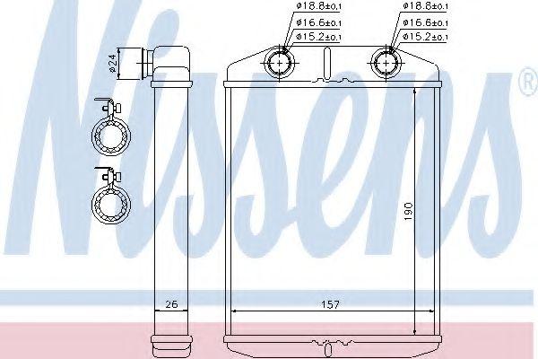 Радиатор отопителя NISSENS 76514