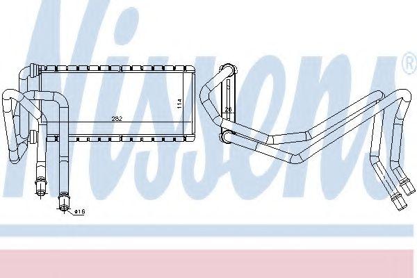 Радиатор отопителя NISSENS 73002
