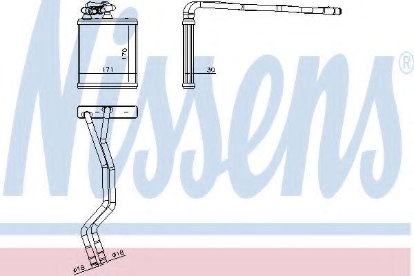 Радиатор отопителя NISSENS 71771