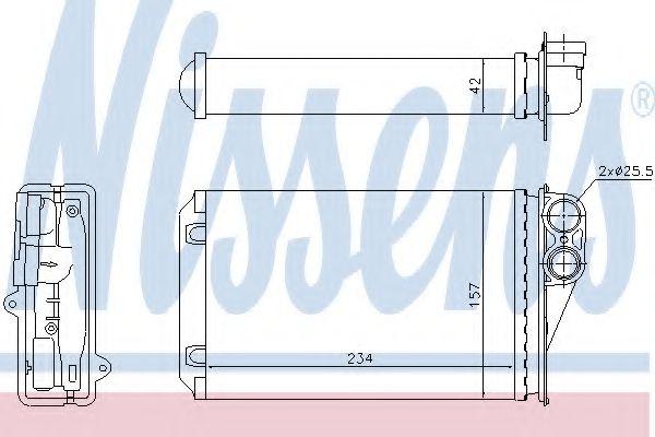 Радиатор отопителя NISSENS 72946