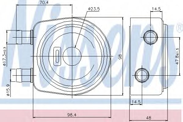 Масляный радиатор NISSENS 90697