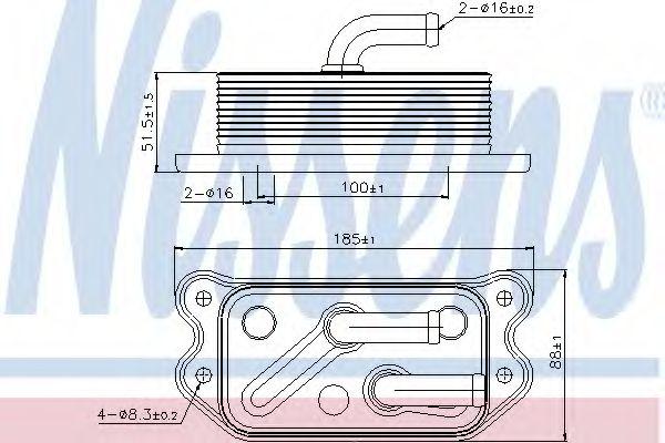 Масляный радиатор NISSENS 90716
