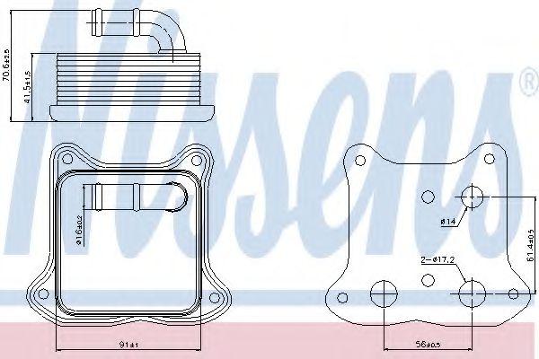 Масляный радиатор NISSENS 90680