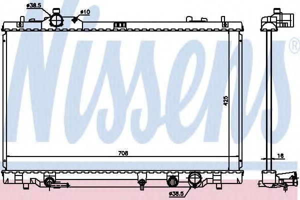 Радиатор, охлаждение двигателя NISSENS 646819