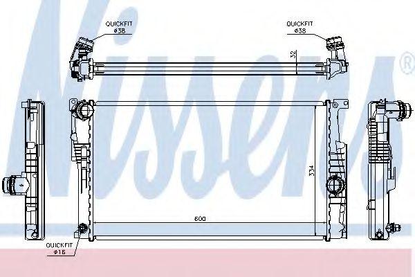 Радиатор, охлаждение двигателя NISSENS 60815