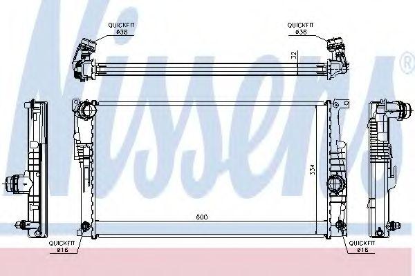 Радиатор, охлаждение двигателя NISSENS 60817