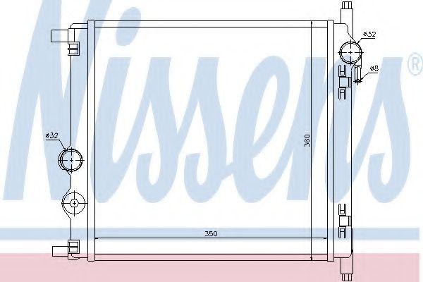 Радиатор, охлаждение двигателя NISSENS 65300