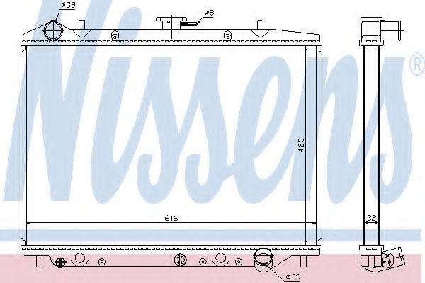 Радиатор, охлаждение двигателя NISSENS 630754