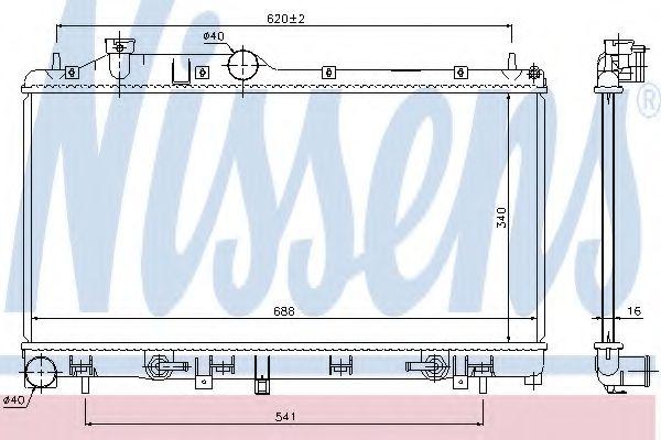 Радиатор, охлаждение двигателя NISSENS 67725