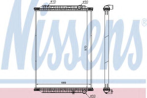 Радиатор, охлаждение двигателя NISSENS 637860