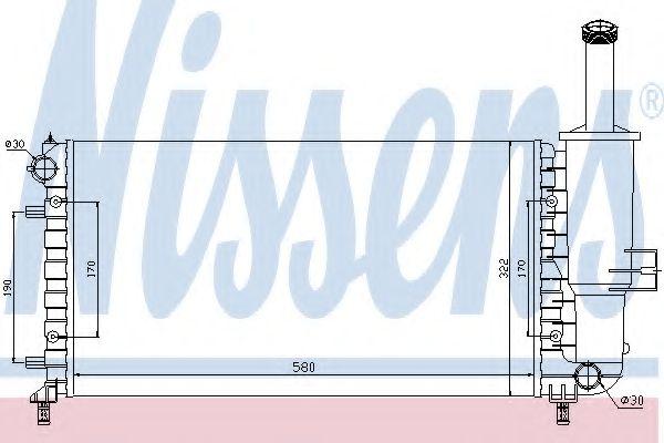 Радиатор, охлаждение двигателя NISSENS 617858
