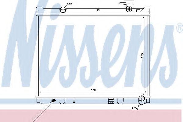 Радиатор, охлаждение двигателя NISSENS 66766