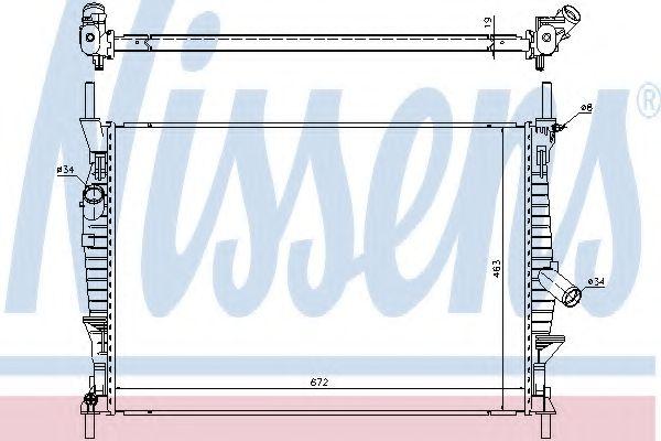 Радиатор, охлаждение двигателя NISSENS 69240