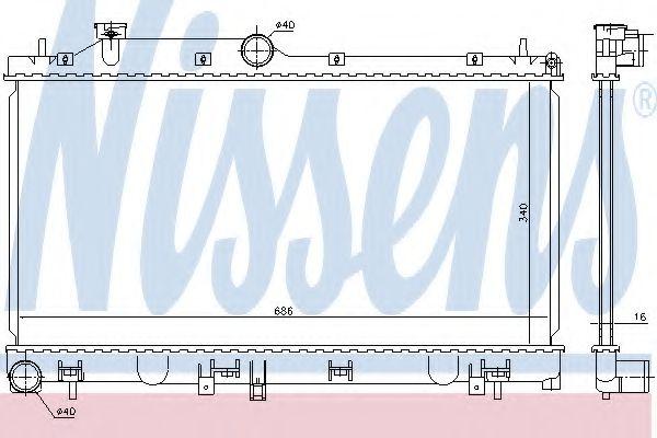 Радиатор, охлаждение двигателя NISSENS 67724