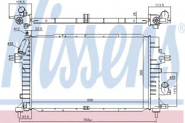 Радиатор, охлаждение двигателя NISSENS 630752