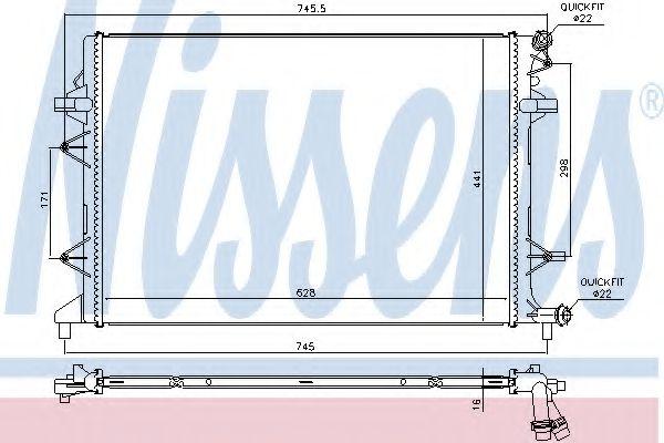 Радиатор, охлаждение двигателя NISSENS 65017