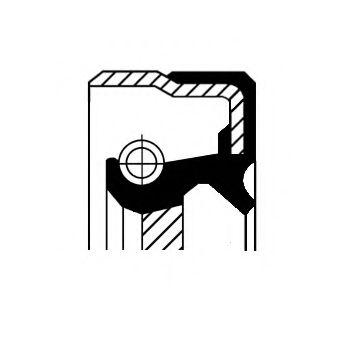 Сальник дифференциала CORTECO 01019477B