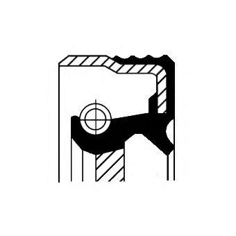 Уплотняющее кольцо, коленвал; CORTECO 01027762B